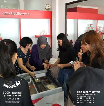 Smoocth Malaysia Vegan Ice Cream Malaysia at Batu Pahat Johor Malaysia Dessert Wholesale Ice Cream and Retail Ice Cream Plant-Based Products Taste The Different of Rice Cream B01-019