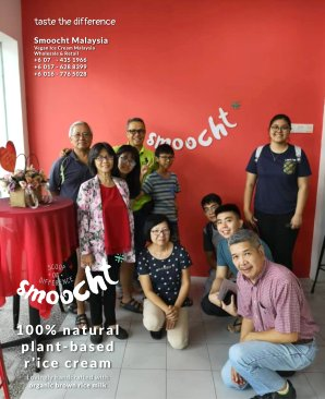 Smoocth Malaysia Vegan Ice Cream Malaysia at Batu Pahat Johor Malaysia Dessert Wholesale Ice Cream and Retail Ice Cream Plant-Based Products Taste The Different of Rice Cream B01-020