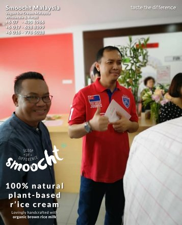 Smoocth Malaysia Vegan Ice Cream Malaysia at Batu Pahat Johor Malaysia Dessert Wholesale Ice Cream and Retail Ice Cream Plant-Based Products Taste The Different of Rice Cream B01-028
