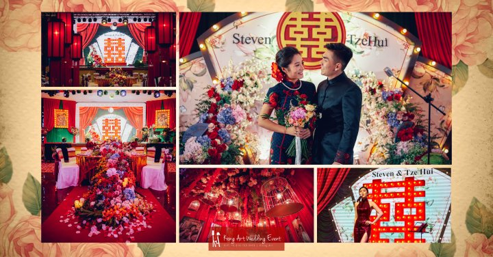 Kuala Lumpur Wedding Deco Decoration Kiong Art Wedding Deco Old Shanghai Style Wedding 旧上海风情婚礼 Steven and Tze Hui at Golden Dragonboat Restaurant 金龙船鱼翅海鲜酒家 Malaysia A16-B00-000