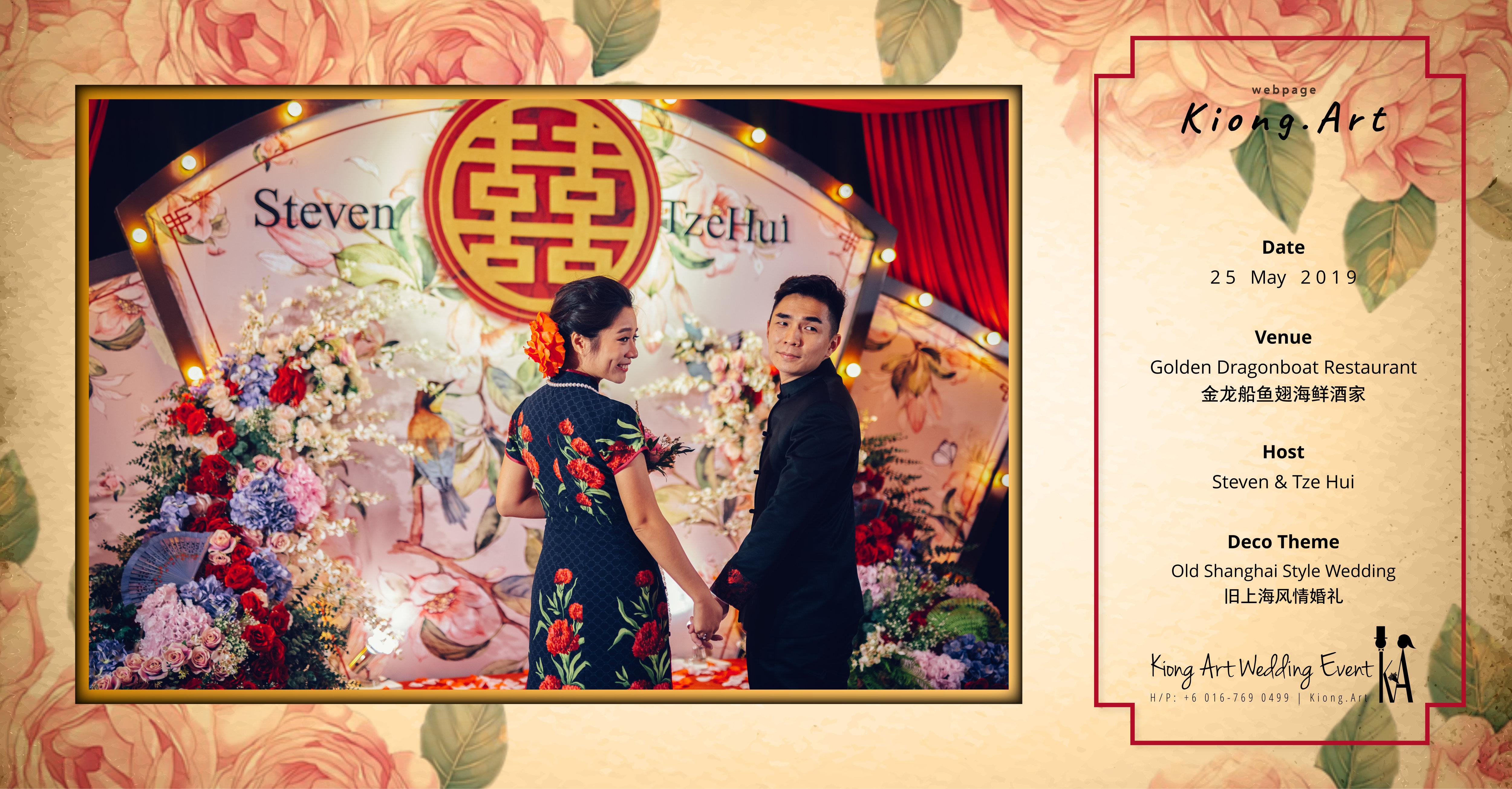 Kuala Lumpur Wedding Deco Decoration Kiong Art Wedding Deco Old Shanghai Style Wedding 旧上海风情婚礼 Steven and Tze Hui at Golden Dragonboat Restaurant 金龙船鱼翅海鲜酒家 Malaysia A16-B00-005
