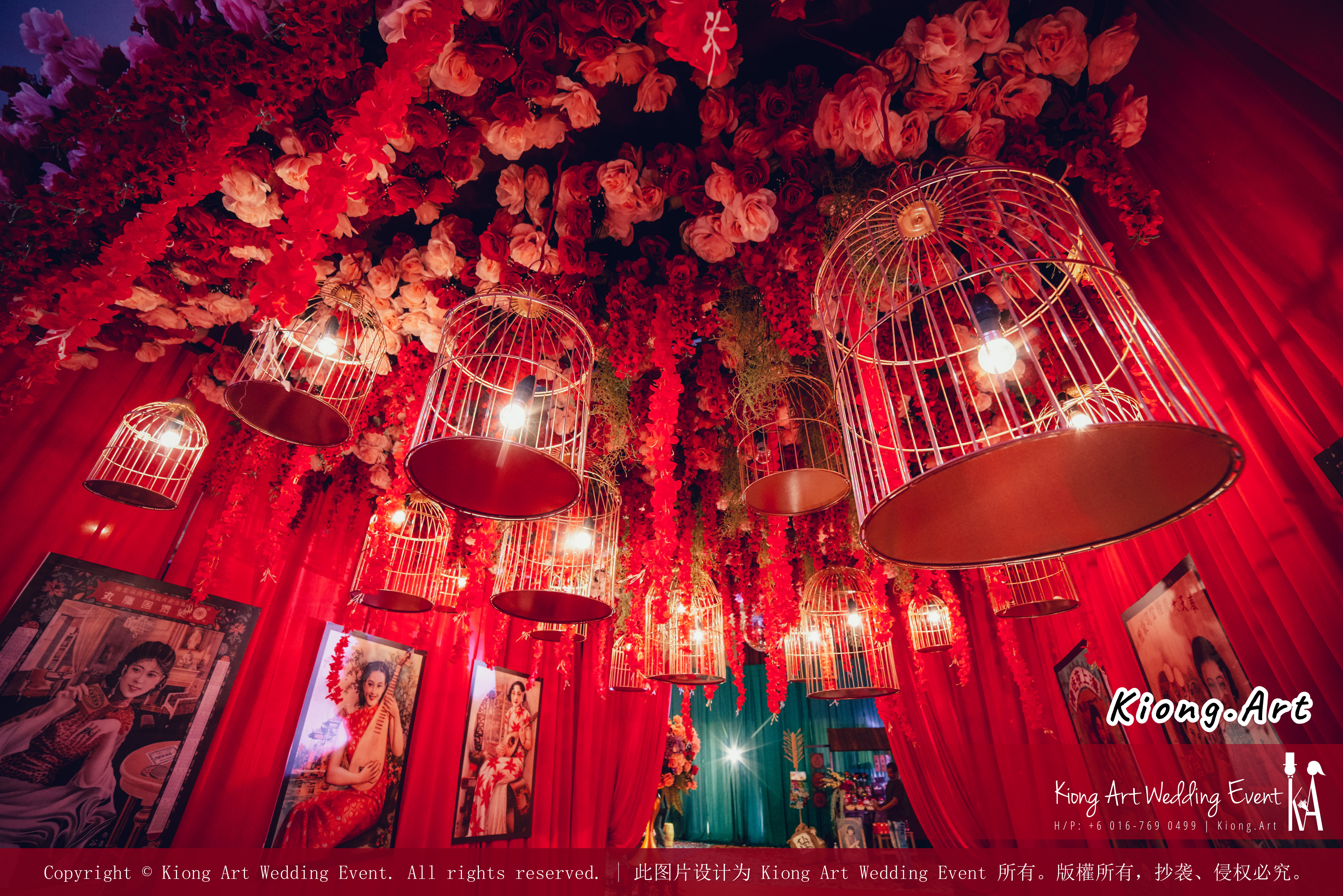 Kuala Lumpur Wedding Deco Decoration Kiong Art Wedding Deco Old Shanghai Style Wedding 旧上海风情婚礼 Steven and Tze Hui at Golden Dragonboat Restaurant 金龙船鱼翅海鲜酒家 Malaysia A16-A03-028