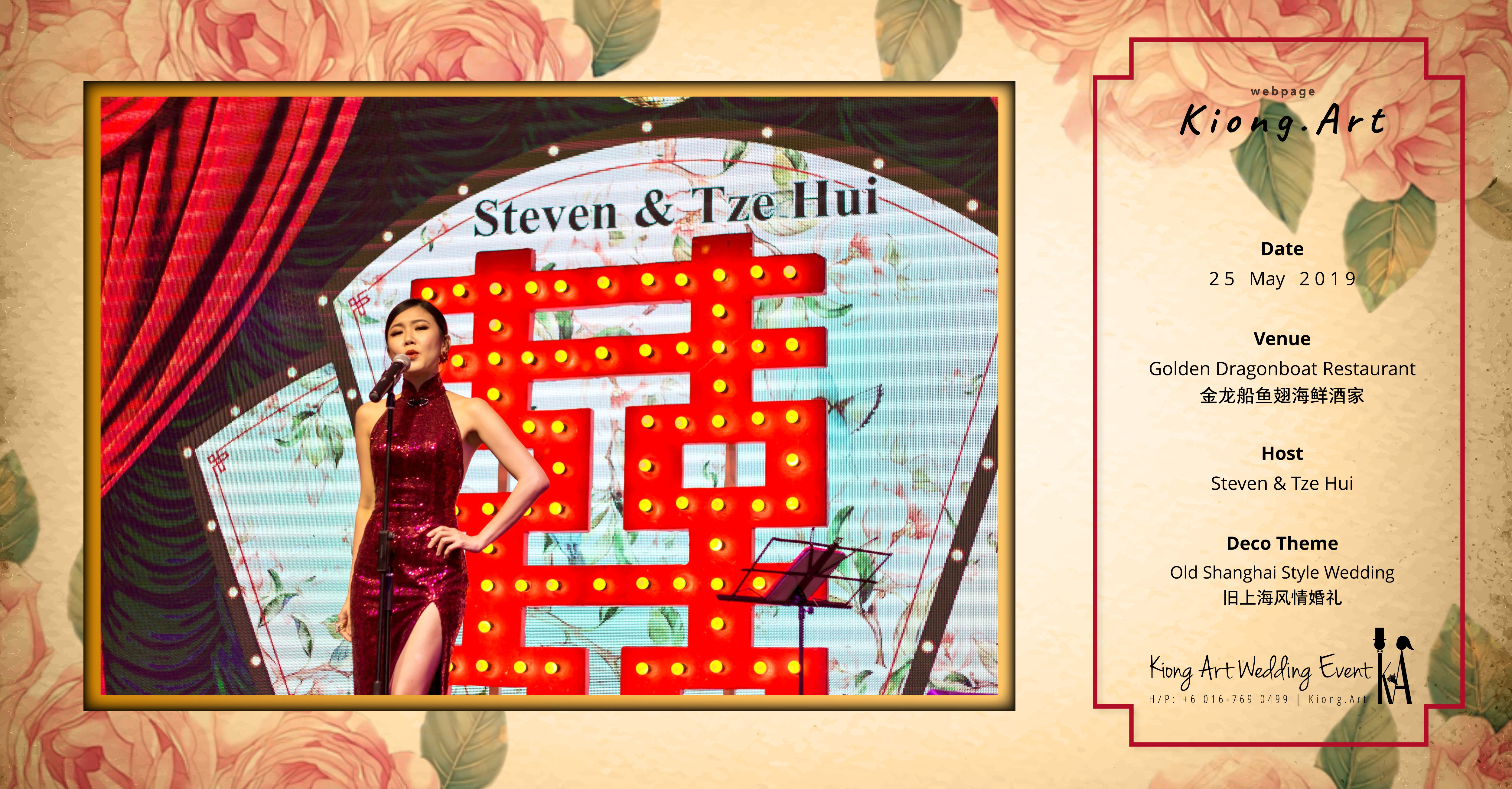 Kuala Lumpur Wedding Deco Decoration Kiong Art Wedding Deco Old Shanghai Style Wedding 旧上海风情婚礼 Steven and Tze Hui at Golden Dragonboat Restaurant 金龙船鱼翅海鲜酒家 Malaysia A16-B00-009
