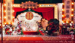 Kuala Lumpur Wedding Deco Decoration Kiong Art Wedding Deco Old Shanghai Style Wedding 旧上海风情婚礼 Steven and Tze Hui at Golden Dragonboat Restaurant 金龙船鱼翅海鲜酒家 Malaysia A16-A01-009