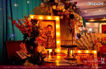 Kuala Lumpur Wedding Deco Decoration Kiong Art Wedding Deco Old Shanghai Style Wedding 旧上海风情婚礼 Steven and Tze Hui at Golden Dragonboat Restaurant 金龙船鱼翅海鲜酒家 Malaysia A16-A02-014