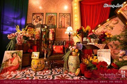 Kuala Lumpur Wedding Deco Decoration Kiong Art Wedding Deco Old Shanghai Style Wedding 旧上海风情婚礼 Steven and Tze Hui at Golden Dragonboat Restaurant 金龙船鱼翅海鲜酒家 Malaysia A16-A02-021