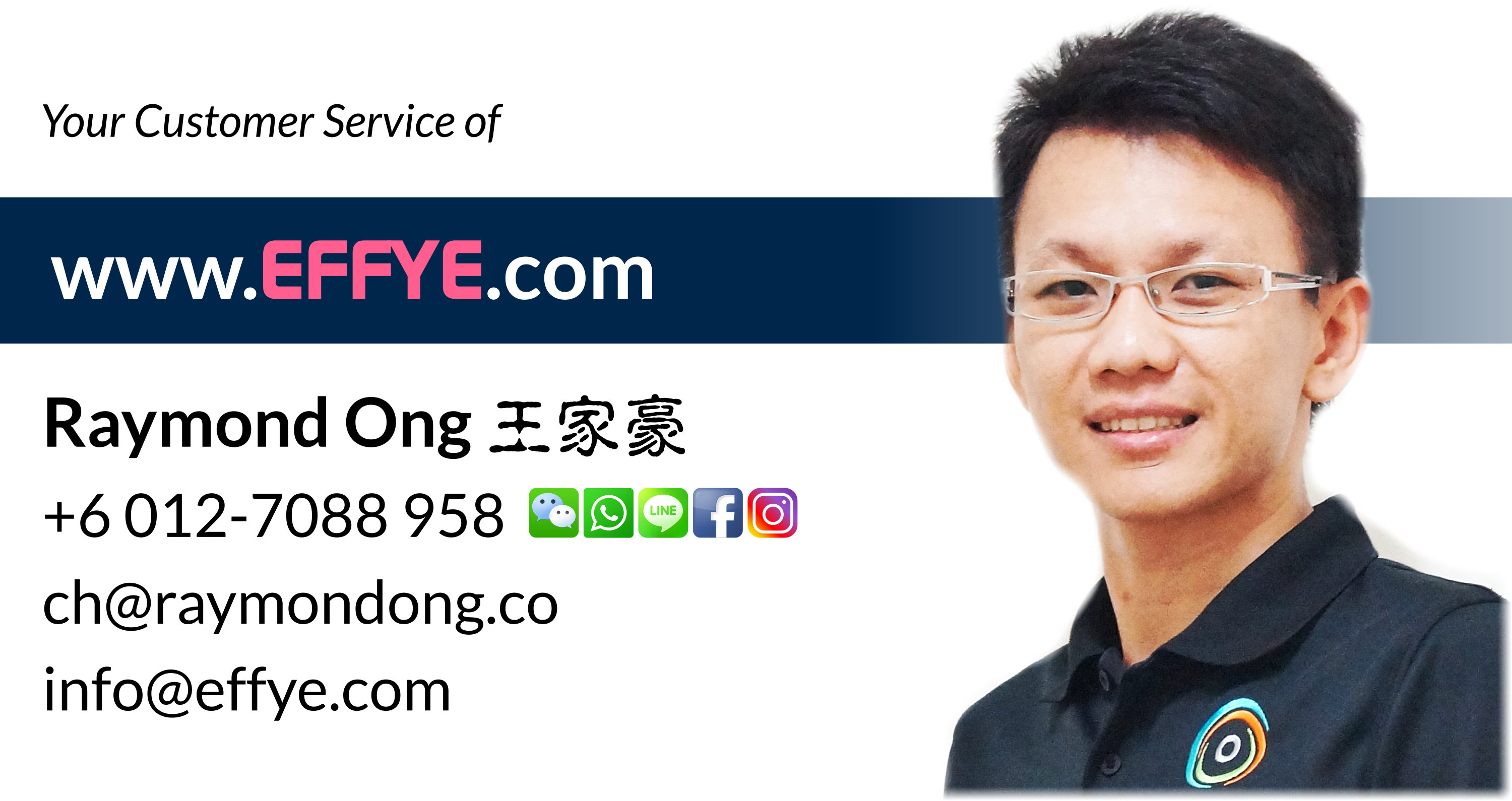 Effye Media Customer Services Raymond Ong Chia How Online Advertising Website Design Development and Education Media Management Malaysia Taiwan Singapore Indonesia China United States A01