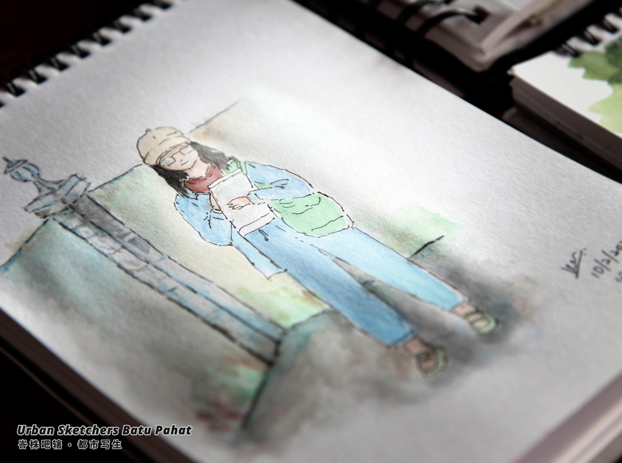 Urban Sketchers Batu Pahat Johor Malaysia Art Drawing Sketching 马来西亚 柔佛 峇株吧辖都市写生 艺术 画画 A025