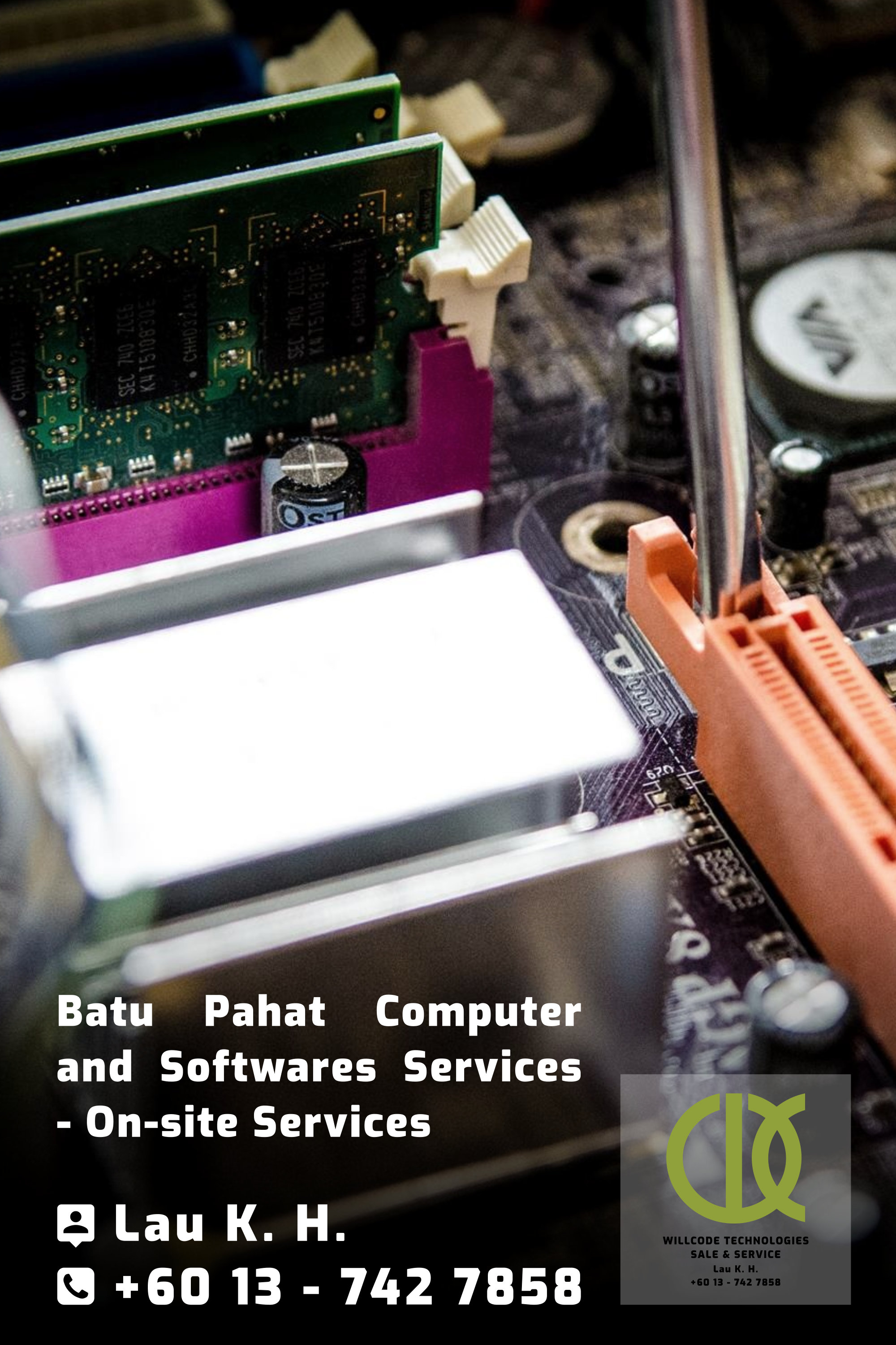 Batu Pahat Computer Services Computer Sales Softwares Services On-site Services Willcode Technologies Sale and Service Logo A01