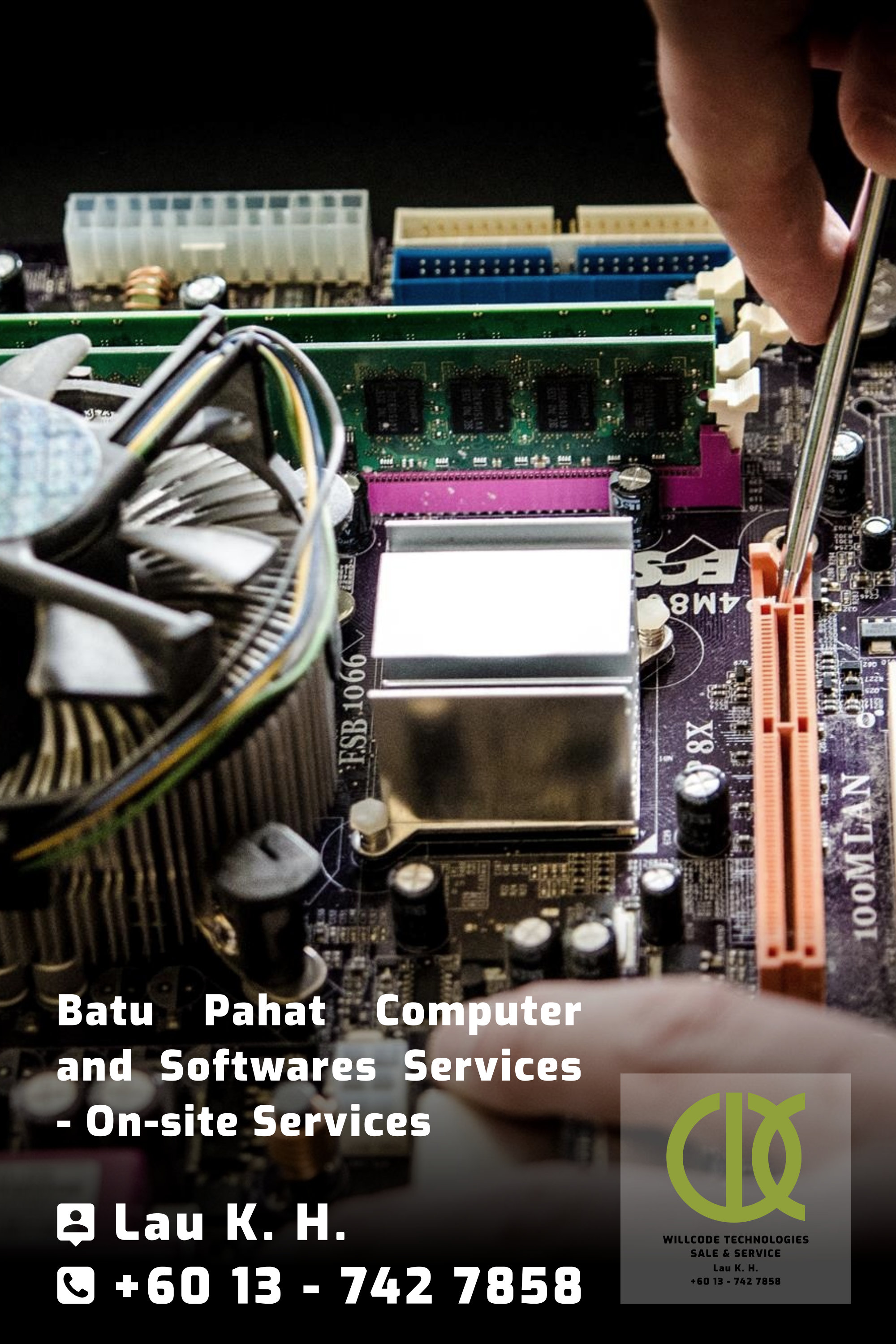 Batu Pahat Computer Services Computer Sales Softwares Services On-site Services Willcode Technologies Sale and Service Logo A03