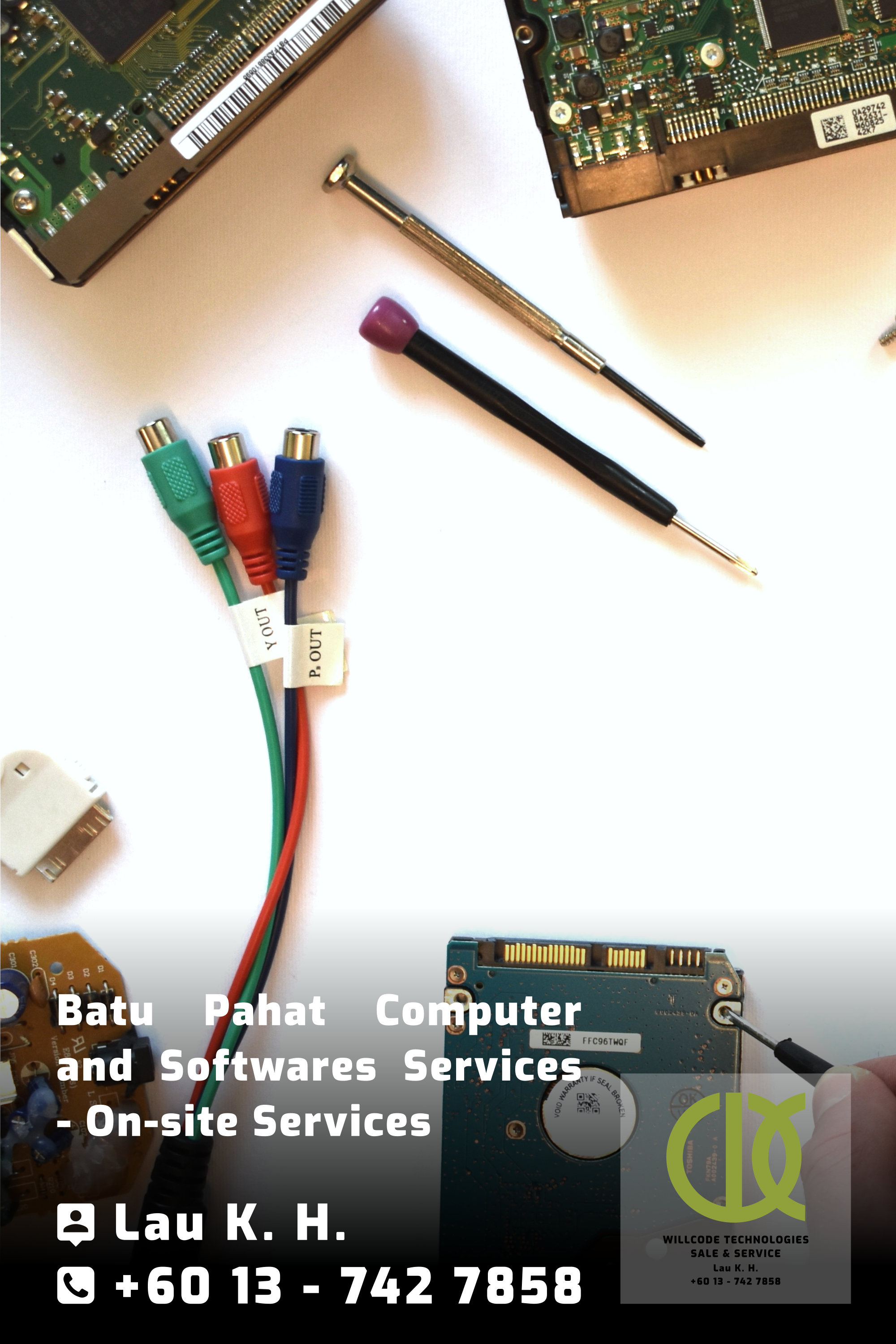Batu Pahat Computer Services Computer Sales Softwares Services On-site Services Willcode Technologies Sale and Service Logo A04